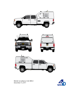 Illustration of a Mobile Surveillance Unit for 4D Security Solutions.