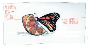 Pen and watercolor sketch.